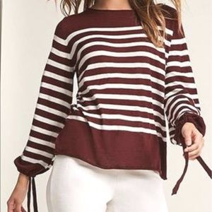 Blush Tops - Stripe sweater-knit top